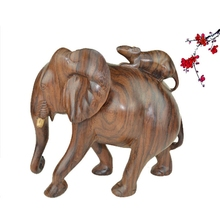 Sculptured Reliefs Black Rosewood Animal Crafts Rat Wholesale Wood Decorative Craft Supply Indian Wood Carving Elephant