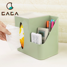 Amazing!!! Multifunction Plastic Tissue Box With Remote Control Holder Napkin Holder For House