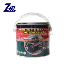 1L tin can with metal pry lid and plastic handle for paint/oil
