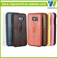 3D deisgn Croco pattern PU lagging coating pc cover for samsung s7 edge
