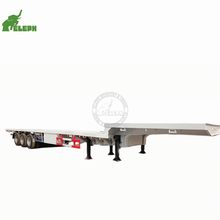 Heavy Duty <strong>Equipment</strong> 53 ft Length Lowbed Trailer/ Fixed Gooseneck Type 60-80 Ton Low Beds Extendable Deck Truck
