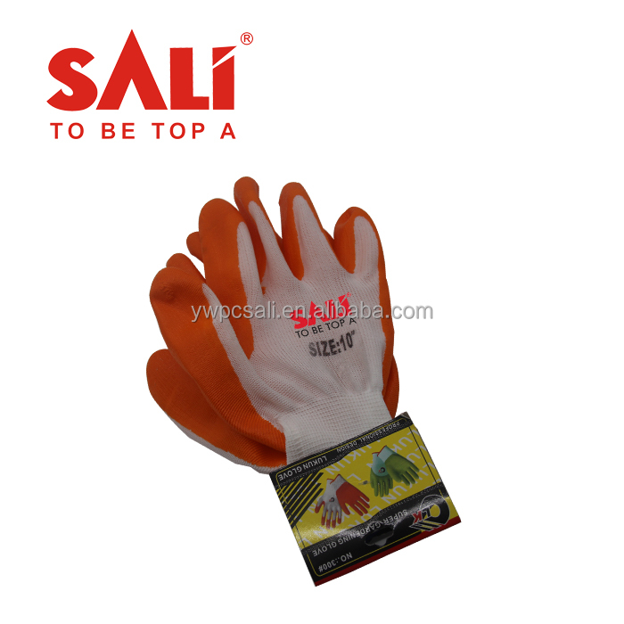 Durable seamless knitted natural rubber coated work gloves,nitrile gloves for oil proof,hand gloves for construction work