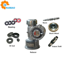 Chinese 1:80 Ratio 3 Stage Three-stage Drill Worm Gear Speed Reducer For Electric Motor Motors Gearbox Sewing Washing Machine