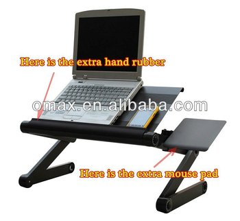 Aluminium alloy Laptop stand with cooling fan & skidproof rubber silicone