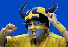 Crazy sweden football carnival viking Hat with Horns for sweden football fan