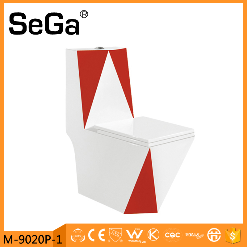 M9020P-1 China supplier sanitary ware new red toilet