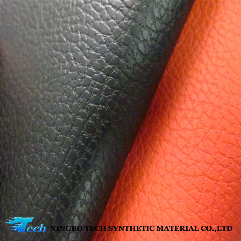Professional embossing pu synthetic leather for dairy cover 2015