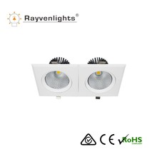 China manufacturer CE ROHS SAA Recessed LED Light/ Adjustable 40W Rectangular COB LED Down Light