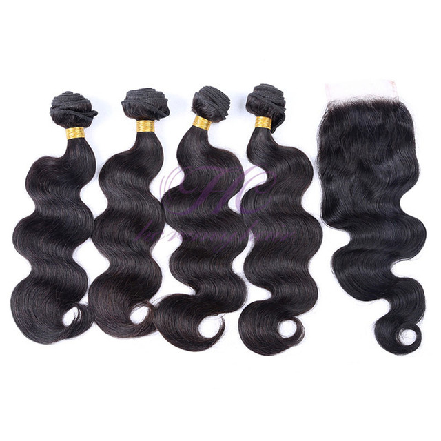 Factory Price 5A 100% Natural Colour Soft Peruvian Body Wave Hair 4Pcs Mixed Lot Whole Sale Hair Weaving