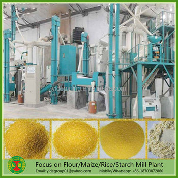 Energy saving High cost-performance 200t maize flour mill machine
