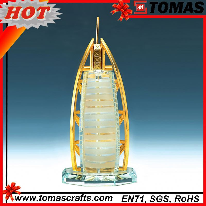 High quality metal dubai tower souvenir