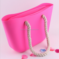 Designer fashion silicone rubber beach bag silicone shopping bag
