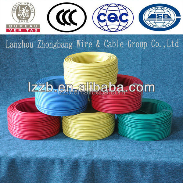 plastic insulated copper electrical wire