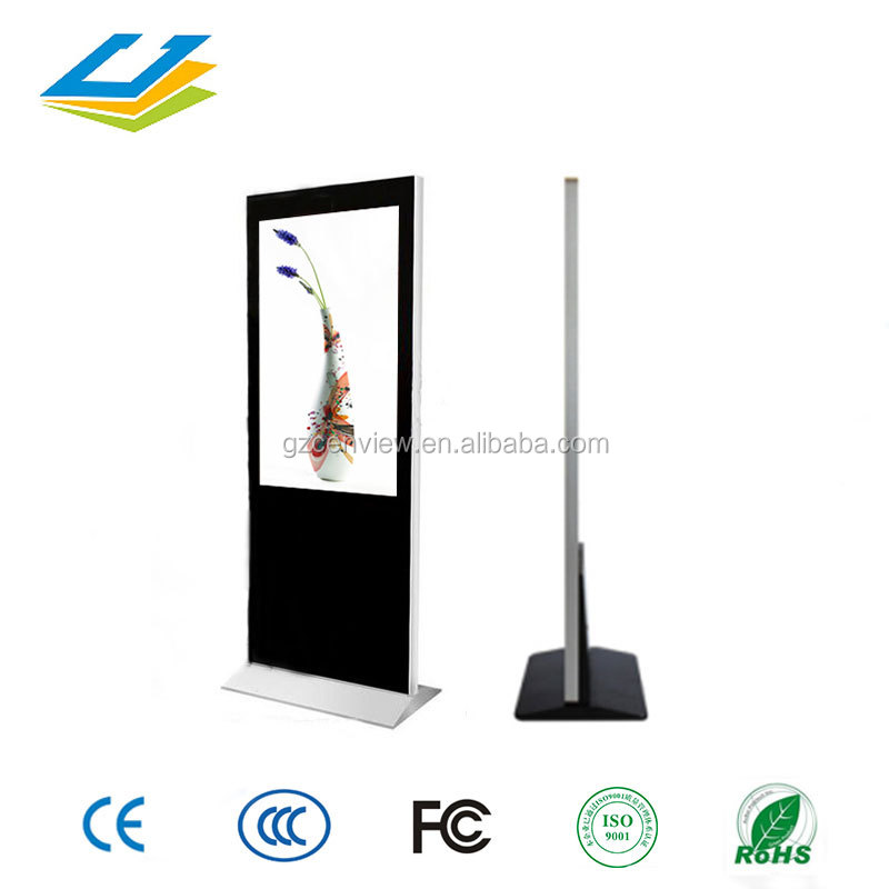 55 inch photo booth machine LCD touchscreen advertising displays with VGA Video Audio