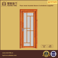 2016 New hinge door design,safety door design with grill,modern bedroom door design