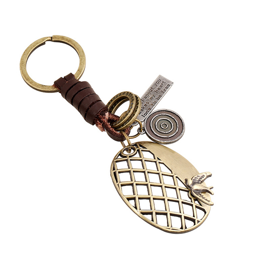13 Style Cute Animal Bronze Plated Genuine Leather Vintage Punk Key Chains For Men And Women Jewelry Gifts E0523