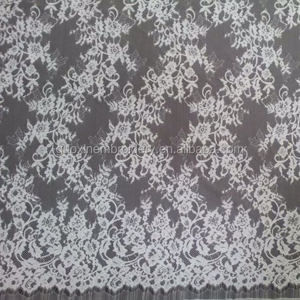 Eyelash Bulk Bridal Cotton Guipure Chantilly Lace Fabric wholesale