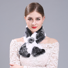 Promotional luxury custom real rabbit hair warm winter scarf for ladies