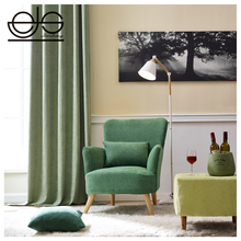 Thick Heavy Velvet Upholstery Curtain Sofa Fabric / Embossing Jacquard Printing Leather Look Linen Imitation Furniture Fabric