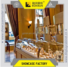 2017 Top rated factory direct supply rose gold jewelry display showcase and retail store display fixture