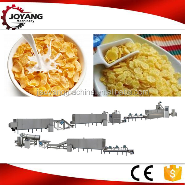 Crispy breakfast cereals corn flakes production line kelloggs