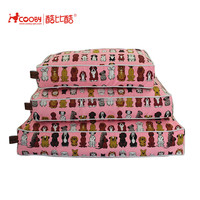 High quality Popular Customized cute pattern dog pillow/cheap dog bed