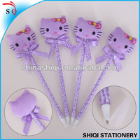 kawayi purple hello kitty shape christms gift ball pen