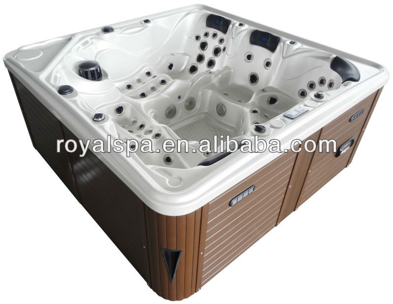 5 Persons Acrylic Sex Massage Outdoor Spa With LED TV