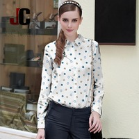 100% polyester 100D CDC printed fabric clothing women