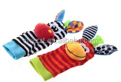 Kids 1Pair Animal Baby Infant Kids Foot Sock Rattles Toys high quality