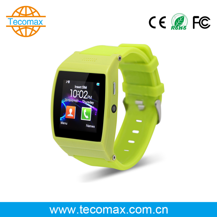 Green Plastic housing case Bluetooth 3.0 smart watch cheap price factory design Pedometer fitness smart watch