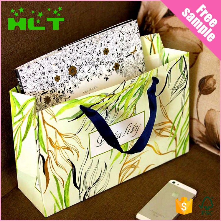 Grocery Kraft customized paper shopping bag With Twisted Handle