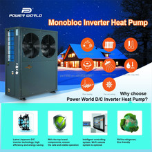 DC Inverter Air to Water Heat Pump Water Heater with Heating & Cooling Funtions