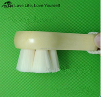 Free samples single wood handle soft hair face cleaning /wash brush