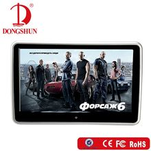 Elegant design 10.1 inch car portable headrest back set dvd monitor with touch screen with USB+SD+HDMI+FM+wireless game