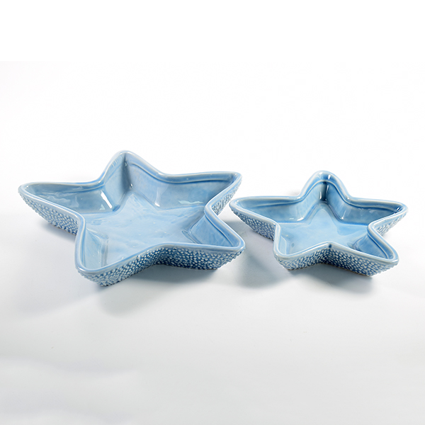 Custom ocean style craft small sea star ceramic sauce plates dishes for restaurant