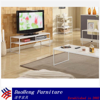 Wood lcd tv table design mdf tv table