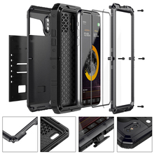 Army shockproof waterproof 360 full cover extrusion metal aluminum case for iphone x