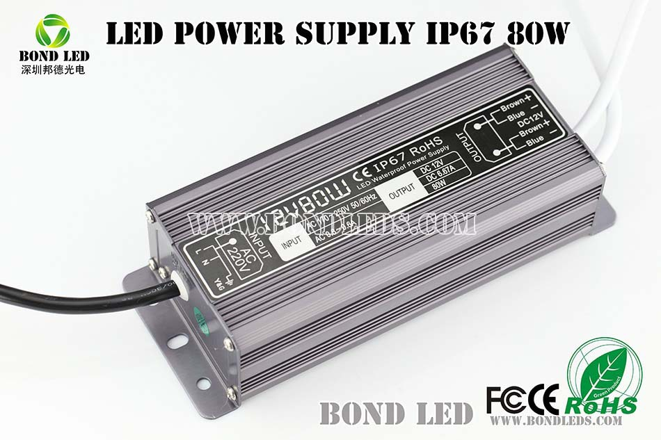 Constant Voltage 6 amp 80w 12v LED Switching Power Supply With CE,FCC,Rohs