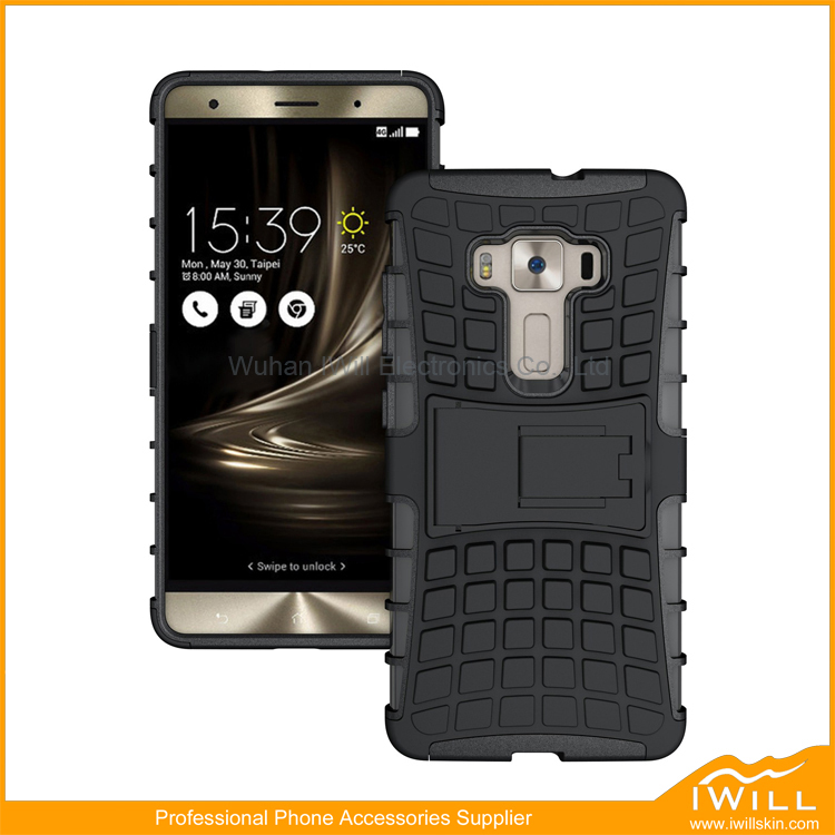 Kickstand Hybrid Mobile Case For Asus Zenfone 3 Deluxe Armor Phone Smart Cover