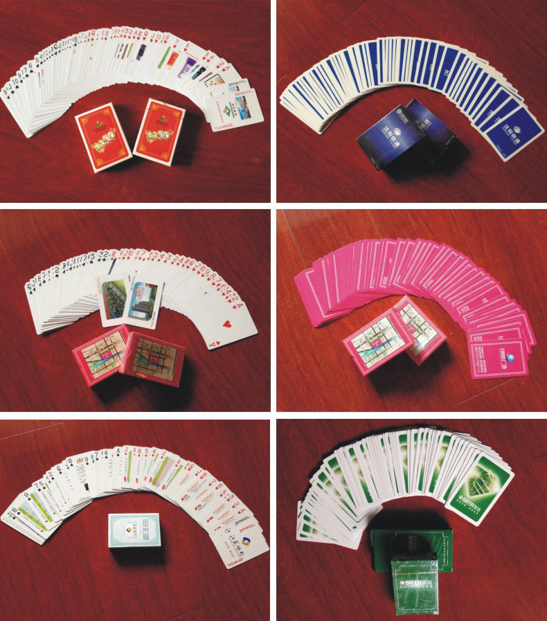 Oval Shape Paper Playing Cards with Plastic Box (430006)