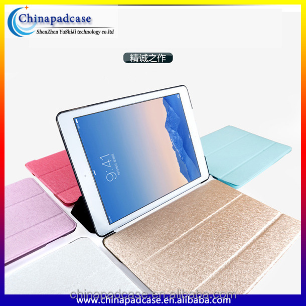 2016 new silk grain leather case for ipad air 2