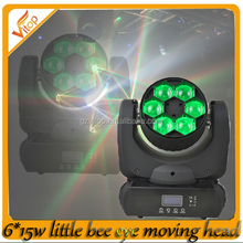 New 2015 stage light mini projector 6x15w RGBW 4-in-1 led moving head light