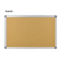 Cheap Price 45*60 cm Standard Sizes Wholesale Double Sided Aluminum Framed Fabric Sheet Felt Pin Bulletin Pin Message Cork Board