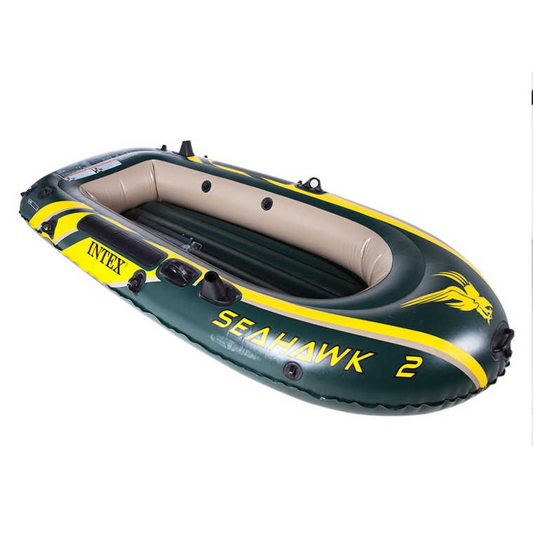 Intex Sport Series Inflatable Boat Seahawk 2/3/4 Set and Accessories