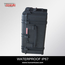 waterproof hard plastic combo+rack+case heavy duty case