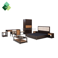 Complete bedroom set used solid wood by Foshan Factory, five star modern hotel furniture stores for sale