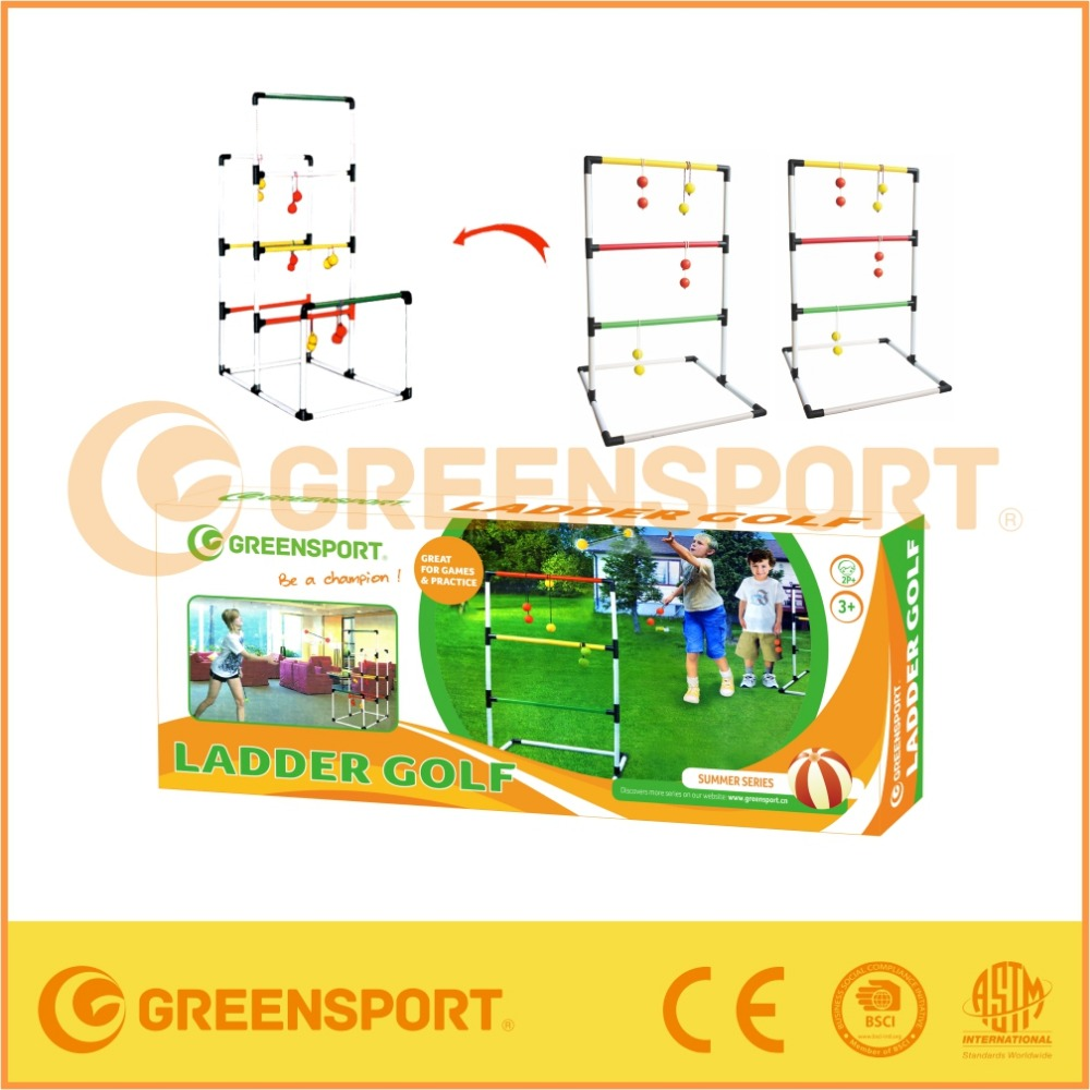 GSGF3ND Children Outdoor plastic Ladder Ball Toss Ladder Golf Game set