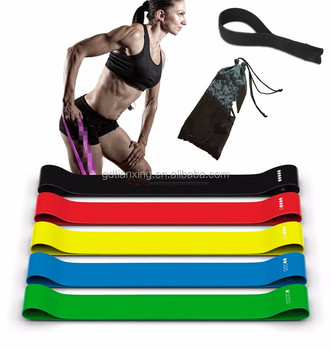 Bulk Latex Exercise Custom logo Printed Resistance Loop Bands Wholesale