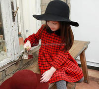 2016 winter new fashion kids clothes baby dress pictures party wear children girl dress